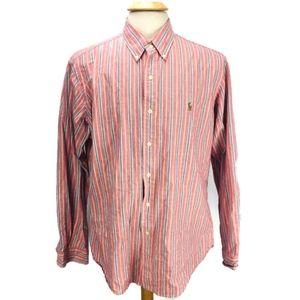 Ralph Lauren Custom Fit Button Shirt Pink Blue